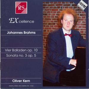 Johannes Brahms : Vier Balladen Op.10, Sonata No.3 Op.5