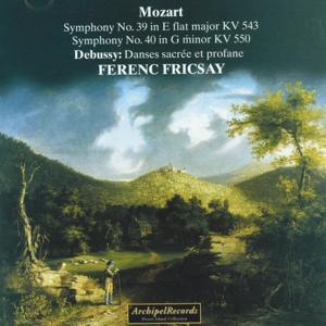 Wofgang Amadeus Mozart : Symphony No. 39, Symphony No. 40, Claude Debussy : Danses sacrée et profane
