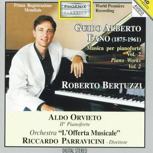 Guido Alberto Fano : Musica per pianoforte, vol. 2 (Piano Works, Vol. 2)