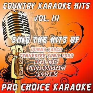 Country Karaoke Hits, Vol. 3 (The Greatest Country Karaoke Hits)