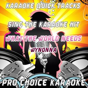 Karaoke Quick Tracks : What the World Needs (Karaoke Version) (Originally Performed By Wynonna)