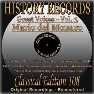 History Records - Classical Edition 108 - Great Voices - Mario del Monaco (Original Recordings - Remastered)