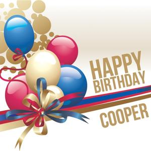 Happy Birthday Cooper