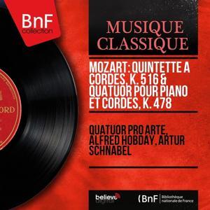 Mozart: Quintette à cordes, K. 516 & Quatuor pour piano et cordes, K. 478 (Recording in 1934, Mono Version)