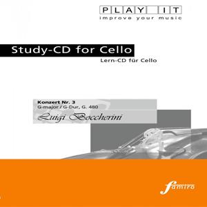 PLAY IT - Study-CD for Cello: Luigi Boccherini, Konzert Nr. 3, G major / G-Dur, G. 480