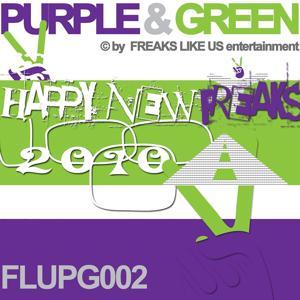 Purple & Green Happy New Freaks 2010